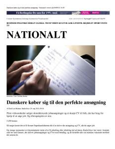 Danskere køber sig til den perfekte ansøgning_print