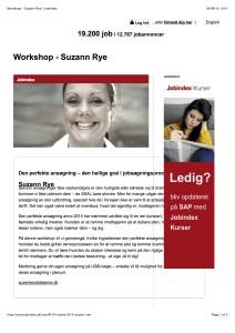 Workshop - Suzann Rye | Jobindex